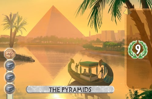 The Pyramids Card from 7 Wonders Duel scores 9 vp.