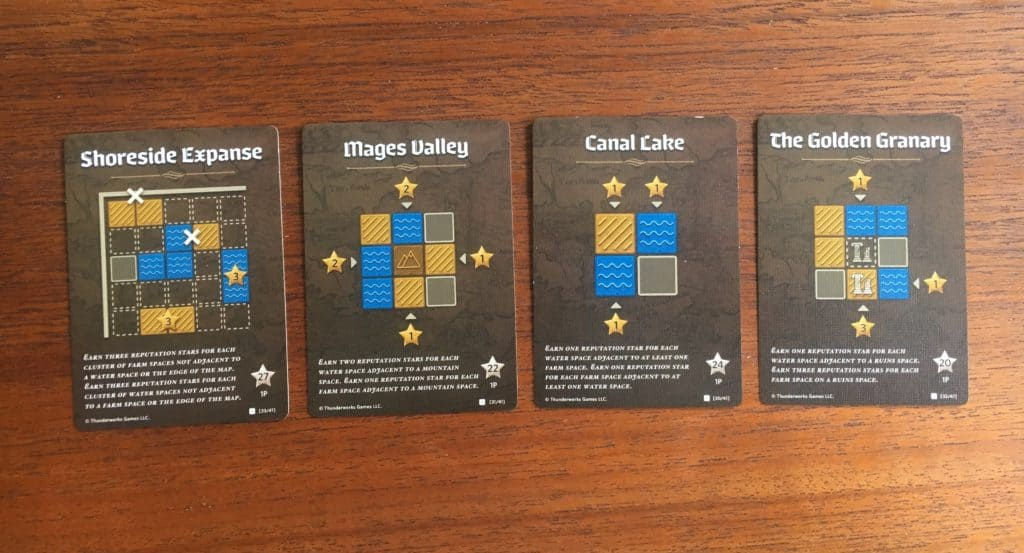 Cartographers Water and Farmland Score Cards