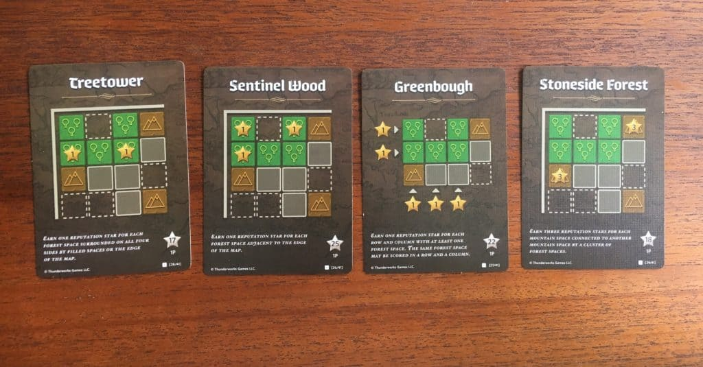Cartographers Forest Green Score Cards