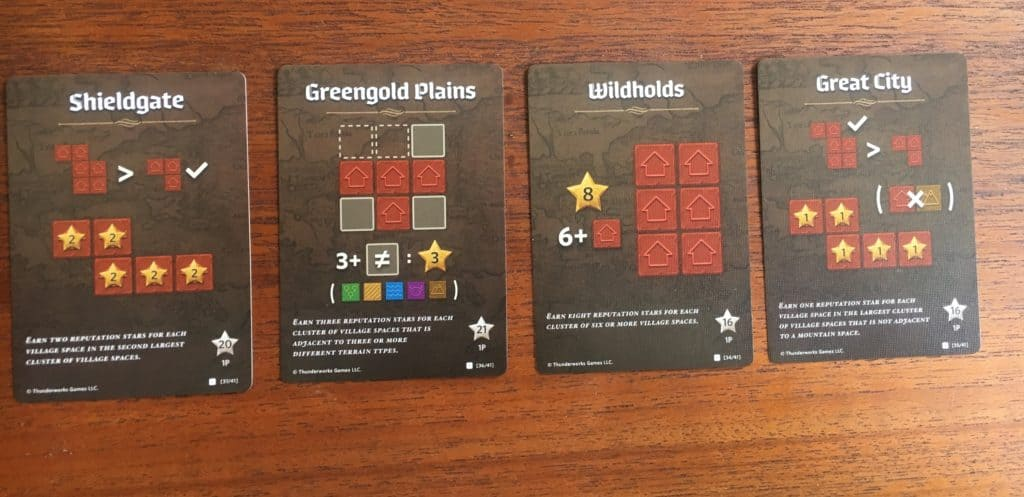 Cartographers House Red Score Cards