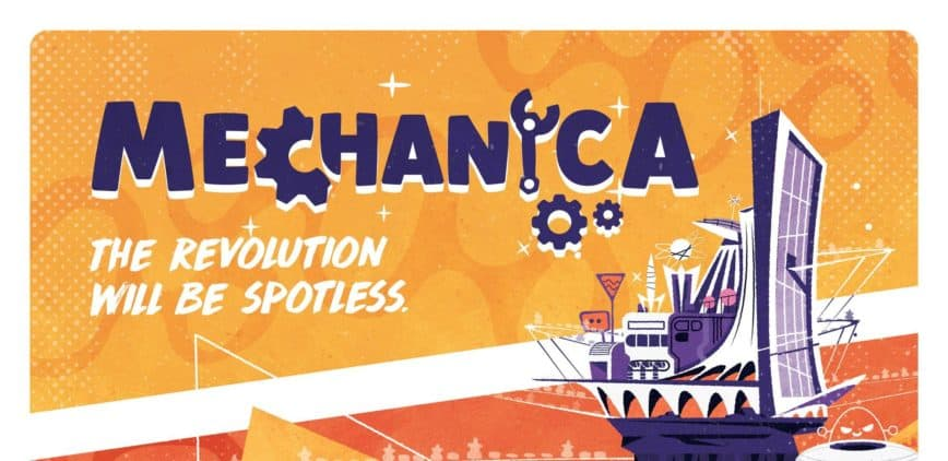 Mechanica Review: A Conveyor Belt Board Game for Humans & Robots